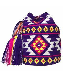 Large Wayuu Mochila Bag MW-0167 by ACROSS THE PUDDLE
