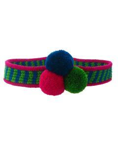 Blue, Green and Fuchsia Wayuu Hat Band