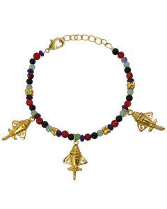 Gemstones and Golden Jet Bracelet