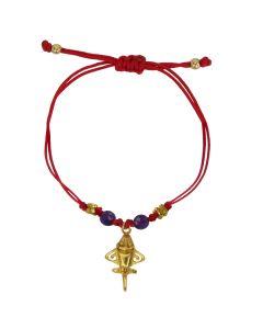Purple Agates and Golden Jet Bracelet