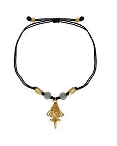 White Jade and Golden Jet Bracelet