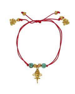 Compressed Turquoises and Golden Jet Bracelet