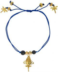 Dyed Onyx and Golden Jet Bracelet