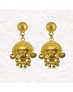 Tairona Anthropomorphic Figure with Diadem (S) Earrings