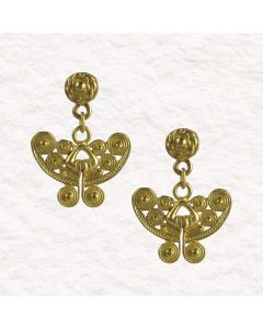 Pre-Columbian Tairona Spirals Butterfly Earrings
