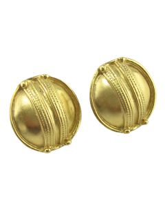 Tairona Braided Button Earrings