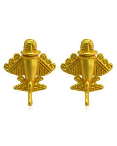 Pre-Columbian Golden Jet-9 / Ancient Aircraft-9 /Golden Flyer-9 Drop Earrings