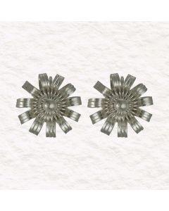 Christiania Filigree Tiara Flower .950 Silver Drop Earrings