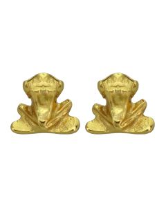Pre-Columbian Tairona Frog Stud Post Back Earrings