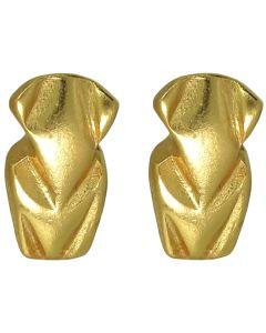 Pre-Columbian Tairona Frog Charm Stud Post Back Earrings