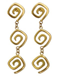 Long Life Square Spirals Strand Dangle Earrings