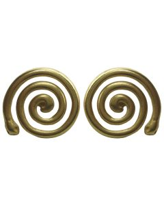 Pre-Columbian Long Life Spiral Drop Post-Back Earrings by ACROSS THE PUDDLE