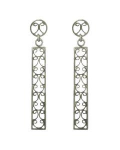 Filigree Handmade .950 Silver Late Roman Style Dangle Earrings