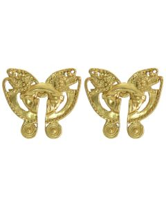 Pre-Columbian Tairona Butterfly with two Animal Heads Stud (XS) Earrings