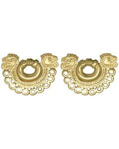 Embossed Tairona Butterfly Drop Earrings