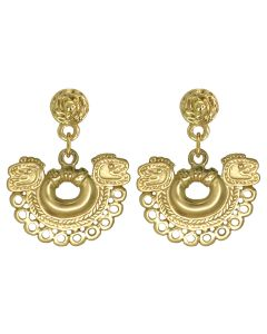 Tairona Nose Ring with Circles Dangle Earrings