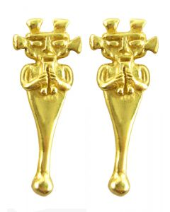 Elonged Anthropomorphic Figure Earring