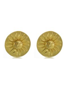 Pre-Columbian Muisca Full Sun (S) Earrings by ACROSS THE PUDDLE