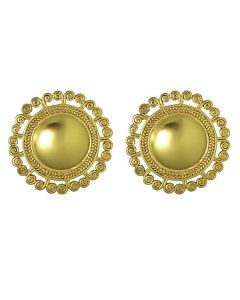 Pre-Columbian Tolima Spirals Sun Earrings by ACROSS THE PUDDLE
