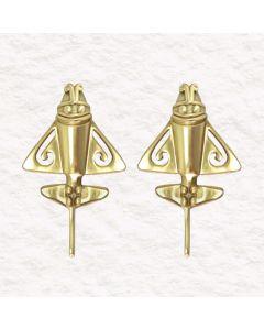 Golden Jet 24k GP .950 Silver Drop Earrings (M)