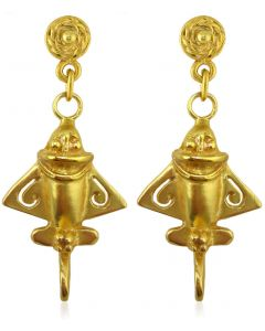 Ancient Aliens Jewelry Collection, Golden Jet Dangle Earrings