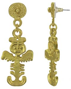 Tolima Zoomorphic Figure Dangle Earrings