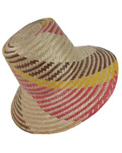 Straw Sun Wayuu Hat by ACROSS THE PUDDLE