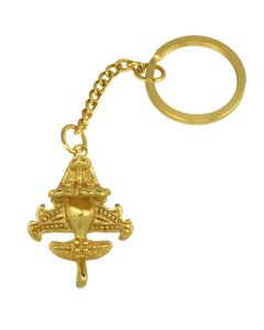 Ancient Aliens Collection, Pre-Columbian Golden Jet-6 / Ancient Aircraft-6 /Golden Flyer-6 Key Chain