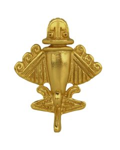Ancient Aliens Jewelry Collection - 24k Gold Plated Aircraft-9 Pin with Military Clutch
