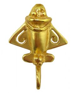 Ancient Aliens Aircraft - Golden Jet Pin by ACROSS THE PUDDLE