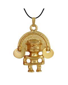 Pre-Columbian Tairona Anthropomorphic Figure with Diadem (M) Pendant by ACROSS THE PUDDLE