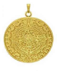 Aztec Solar Calendar Pendant by ACROSS THE PUDDLE