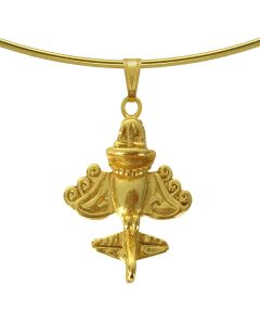 Ancient Aliens Aircraft - Golden Jet - Golden Flyer Choker Necklace