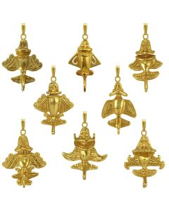 Eight Golden Jet-Flyers Pendants Bundle by ACROSS THE PUDDLE