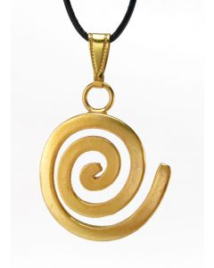 Pre-Columbian Zenu Long Life Spiral Pendant