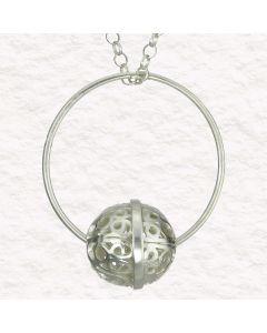 Filigree Handmade .950 Silver Medieval Persian Style Pendant