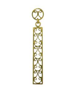 """Late Roman Filigree 24k GP 950 Silver Ornament 18"""" Necklace"""