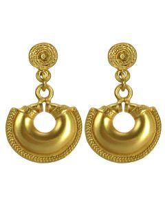 Pre-Columbian Convex Nose Ring Dangle Earrings