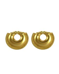 Pre-Columbian Quimbaya Convex Nose Ring Stud Earrings by ACROSS THE PUDDLE