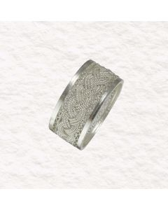 Braided Filigree and Triangles Ring