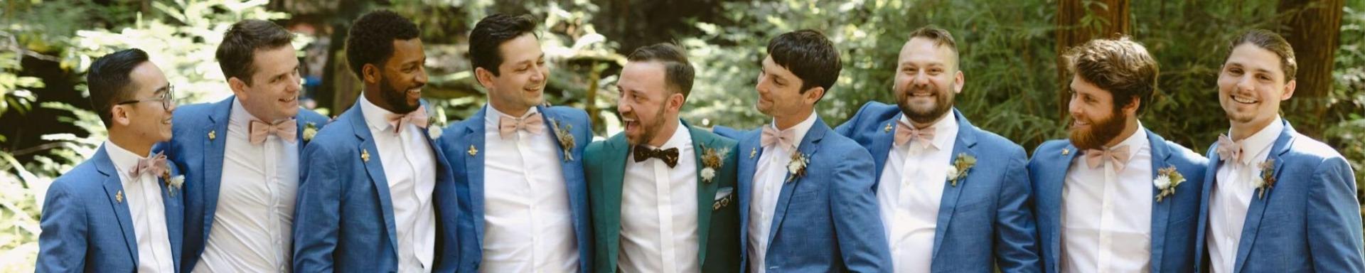 groomsmen-wearing-goldenjet-pins